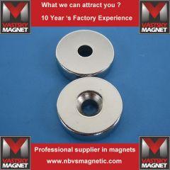 ndfeb countersunk hole magnets